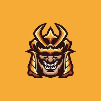 Kolekcja logo samuraja
