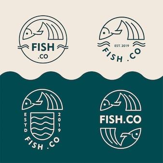 Kolekcja logo sklepu rybnego