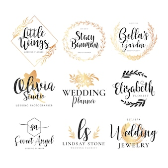 Kolekcja logo ślubu