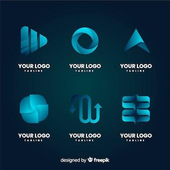 Kolekcja logo streszczenie gradientu