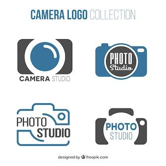 Kolekcja logo studio fotograficznym