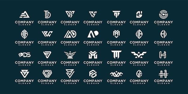 Kolekcja logo szablonów projektu logo monogram az