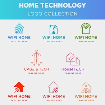 Kolekcja logo technologii domowej