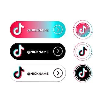 Kolekcja logo tiktok