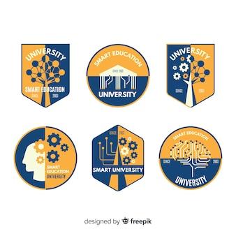 Kolekcja logo uniwersytetu