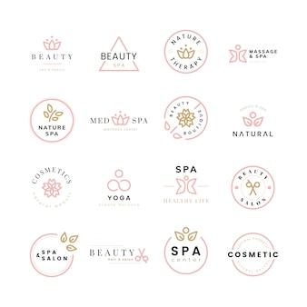 Kolekcja logo urody i spa