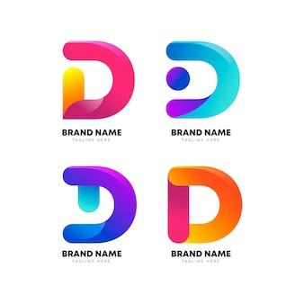 Kolekcja logo w kolorze gradientu