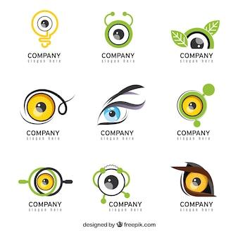 Kolekcja logo w sposób abstrakcyjny wzór