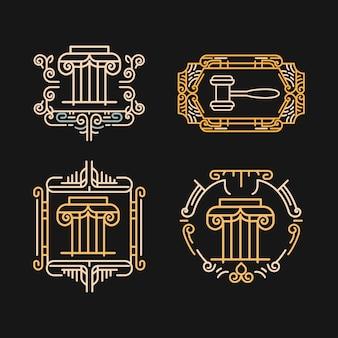 Kolekcja logo wektor prawnik rocznika