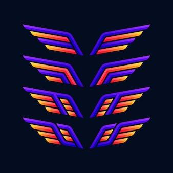 Kolekcja logo wings