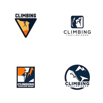 Kolekcja logo wspinaczka