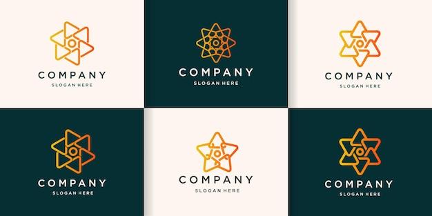 Kolekcja logo z okrągłym trójkątem