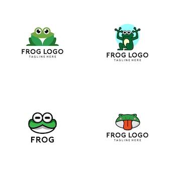 Kolekcja logo żaba