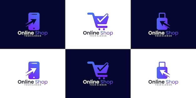 Kolekcja logo zakupów online