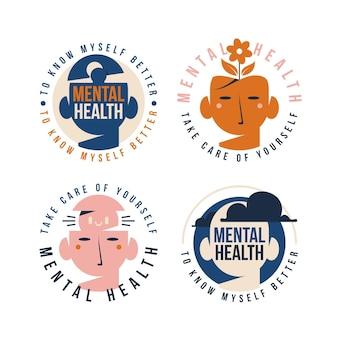 Kolekcja logo zdrowia psychicznego