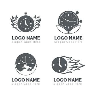 Kolekcja logo zegarka płaskiego