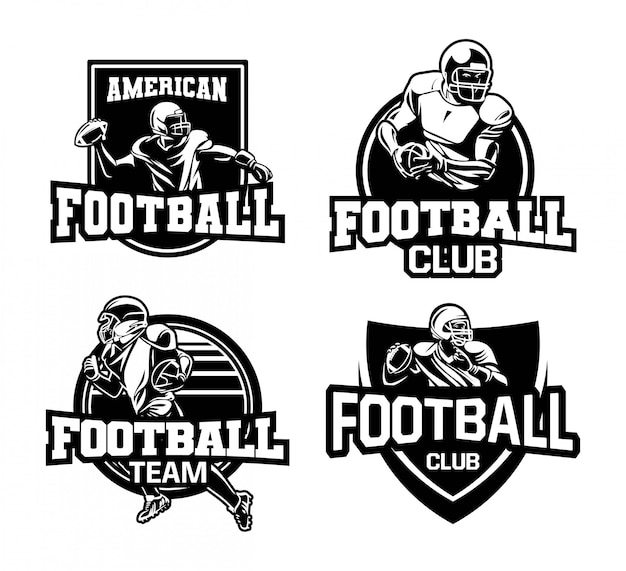 Kolekcja logo znaczek futbolu amerykańskiego
