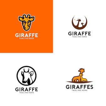 Kolekcja logo żyrafy