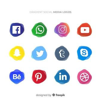 Kolekcja logotypów mediów społecznościowych