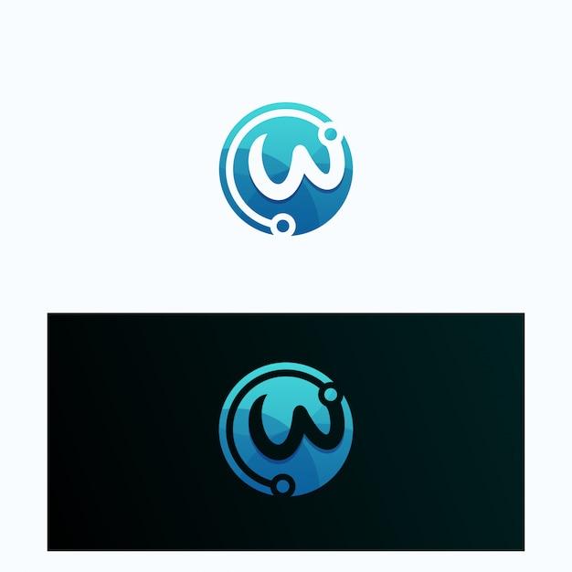 Kolekcja logotypu litery w.