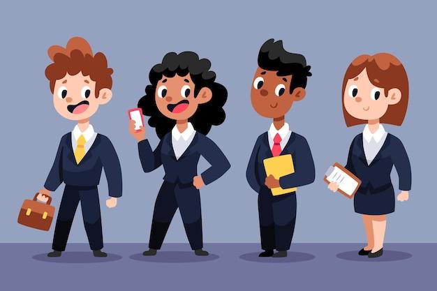 Kolekcja ludzi biznesu kreskówek