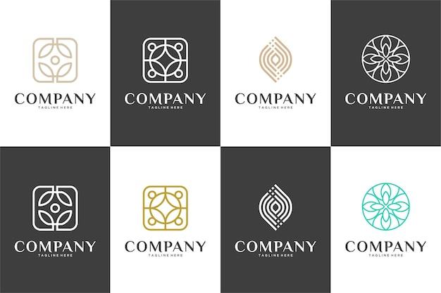 Kolekcja luksusowych logo linii sztuki piękna