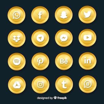 Kolekcja luksusowych logo mediów społecznościowych
