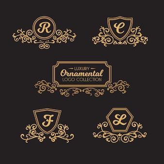 Kolekcja luksusowych logo ozdobnych