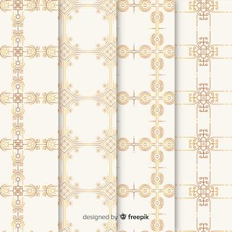 Kolekcja luksusowych wzorów geometrycznych
