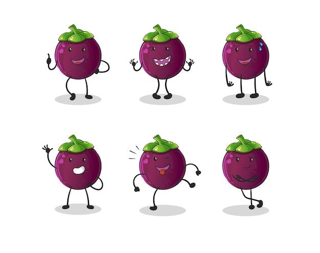 Kolekcja mangostanu kreskówek
