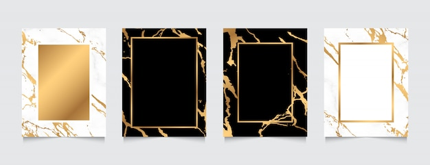 Kolekcja marmur teksturowanej tło złoto