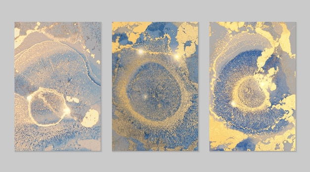 Kolekcja marmurowych tekstur abstrakcyjnych