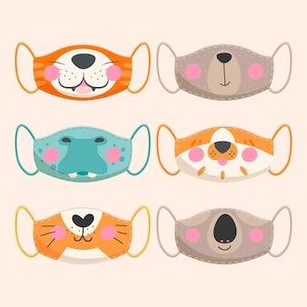 Kolekcja masek zwierzęcych