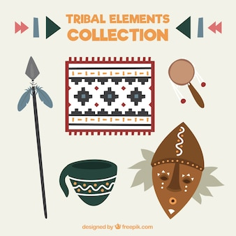 Kolekcja maski z elementami plemiennych