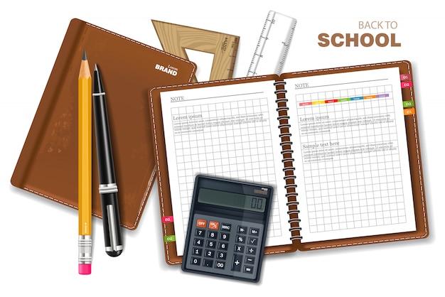 Kolekcja materiałów szkolnych