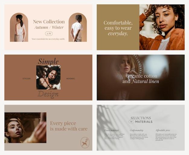 Kolekcja mediów społecznościowych do edycji mody