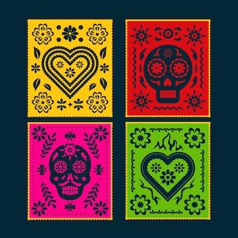 Kolekcja meksykańskich chorągiewek