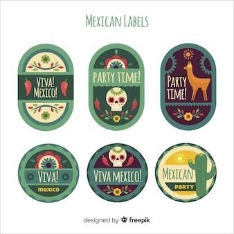 Kolekcja meksykańskich etykiet