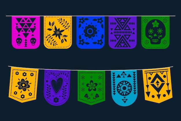 Kolekcja meksykańskiej chorągiewki