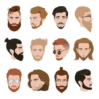 Kolekcja męska fryzura