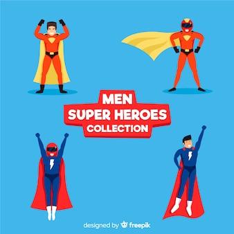Kolekcja męskiej kreskówki superbohatera