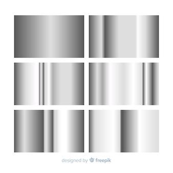 Kolekcja metaliczny gradient