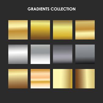 Kolekcja metalicznych gradientów kolekcja metalicznych gradientów