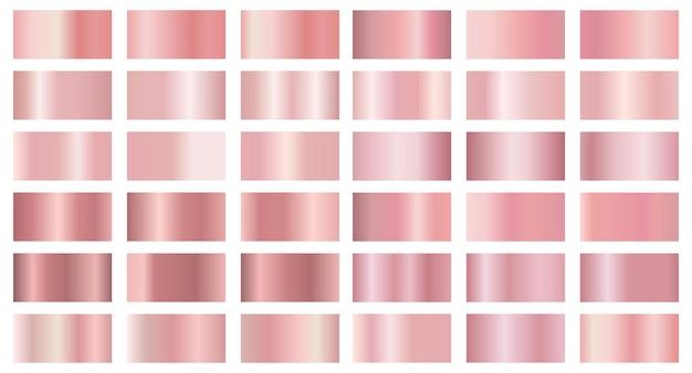 Kolekcja metalicznych gradientów