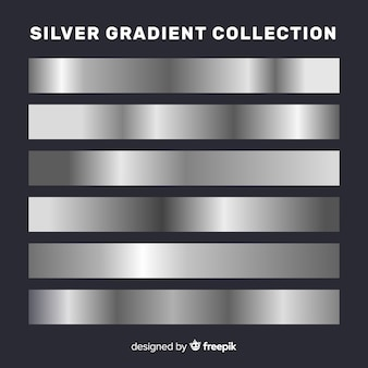 Kolekcja metalicznych pasków gradientu