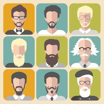 Kolekcja mężczyzn z wąsami