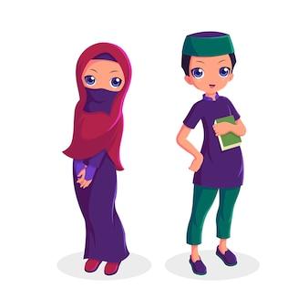 Kolekcja mężczyzna i kobieta para muzułmańskich