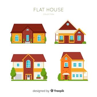 Kolekcja mieszkań mieszkalnych w stylu płaskiej