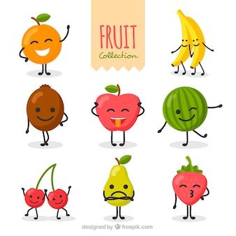 Kolekcja miłych znaków owoce