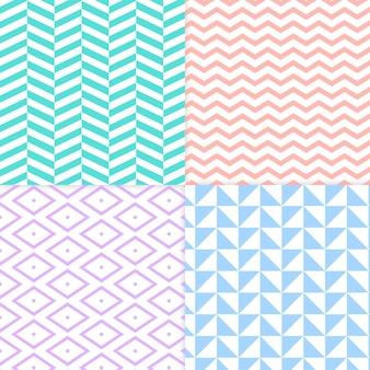 Kolekcja minimalistycznego wzoru geometrycznego